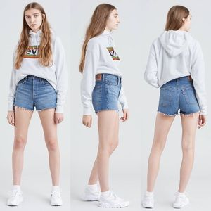 Levi's | High Rise Denim Cuttoff Shorts